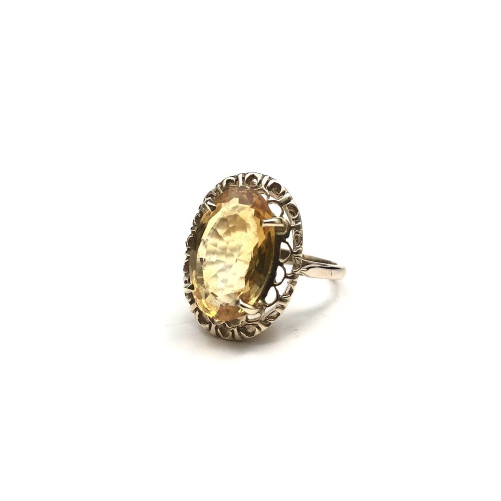 10K 5ct Citrine Ring