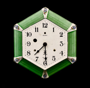 Vintage MILLER Art Deco Ceramic Wall Clock