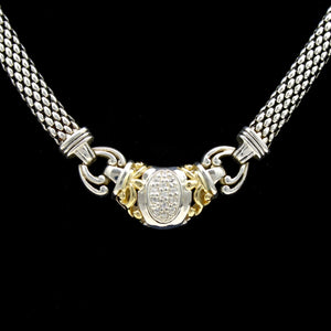 GABRIELLE BRUNI Sterling Silver & 14K Diamond Necklace