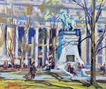 Clarence Ainslie Loomis - Dominion/Dorchester Square, Montreal - Oil on Canvas