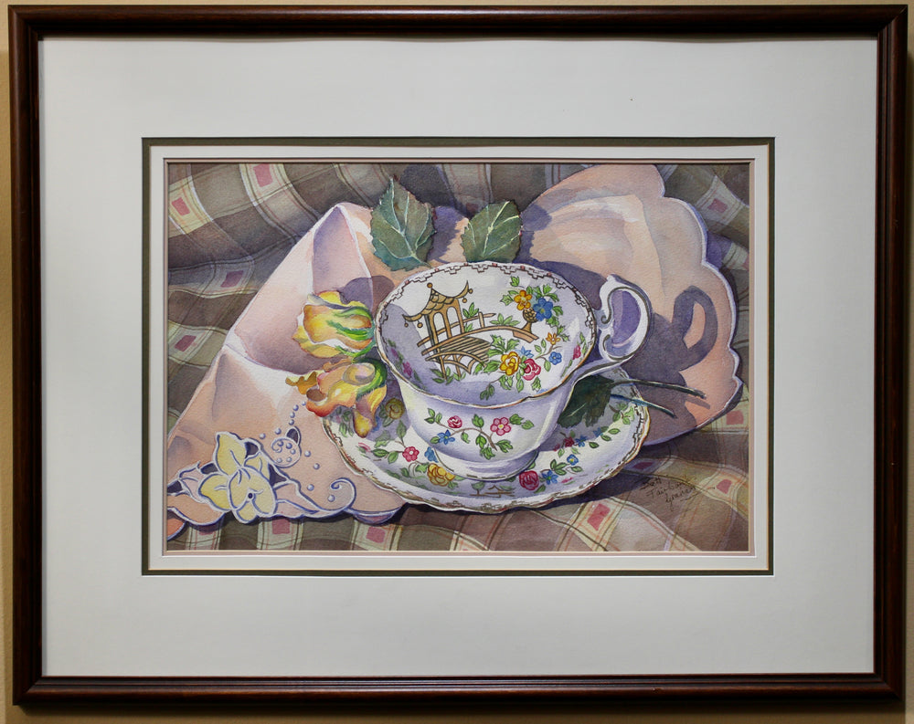 Load image into Gallery viewer, Brett Fairbanks Graham - Still Life of Tea Cup - Watercolour