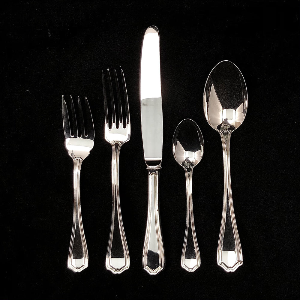 BIRKS Sterling Silver Georgian Flatware-  12 Place Settings