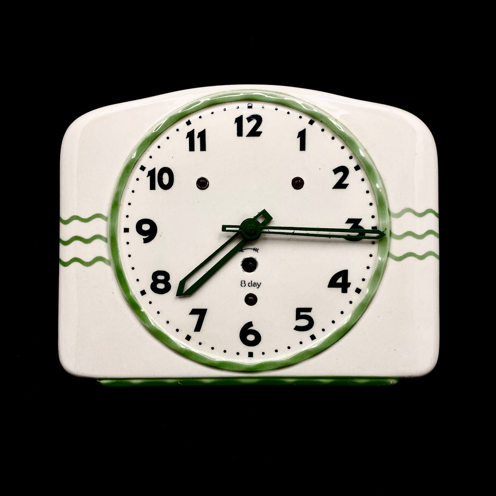 Vintage Art Deco Ceramic Wall Clock