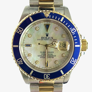 ROLEX Stainless Steel & 18K Submariner - Mother of Pearl & Diamond