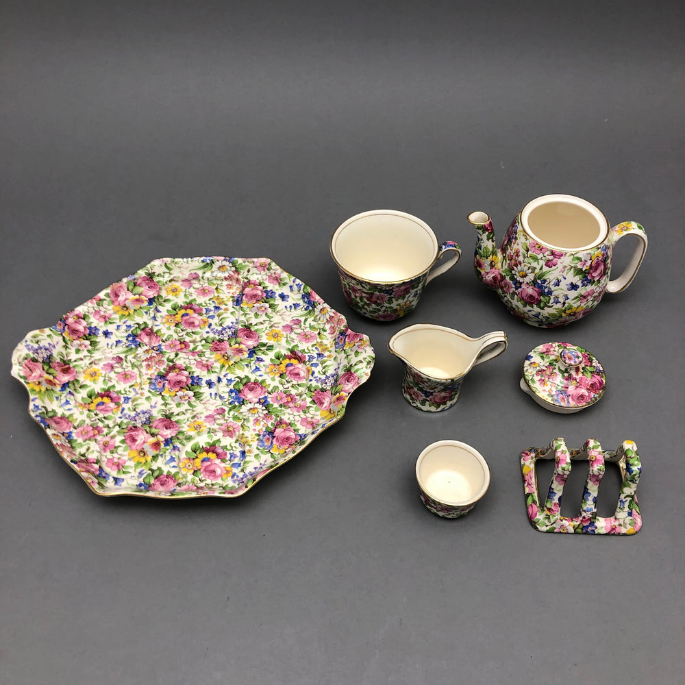 ROYAL WINTON Summertime Teaset For 1 - 7 Pieces