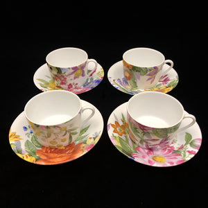 BILL GOLDSMITH LIMOGES Alice Cups & Saucers - Set of 8
