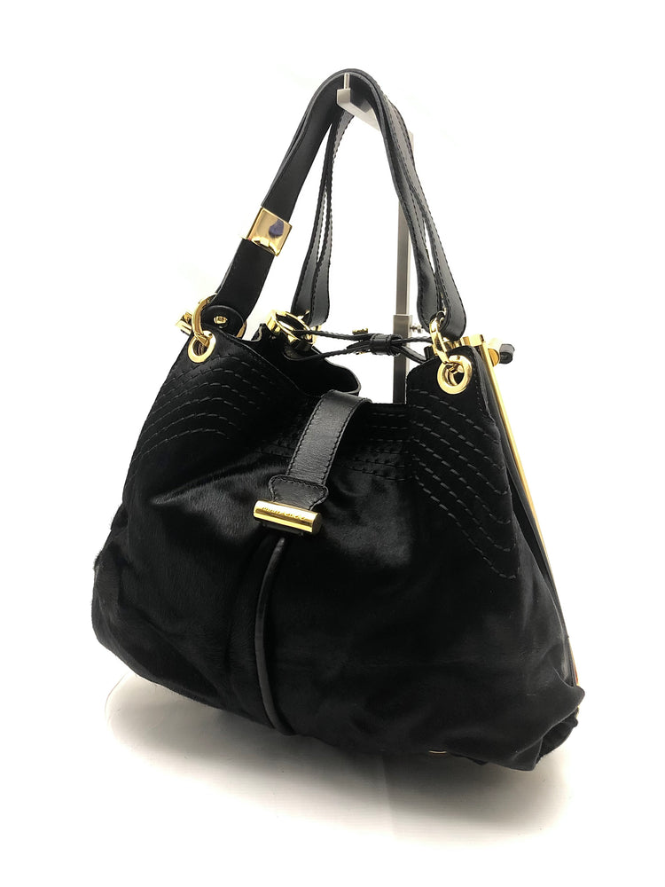 JIMMY CHOO Alex Shoulder Bag - Black Pony Hair