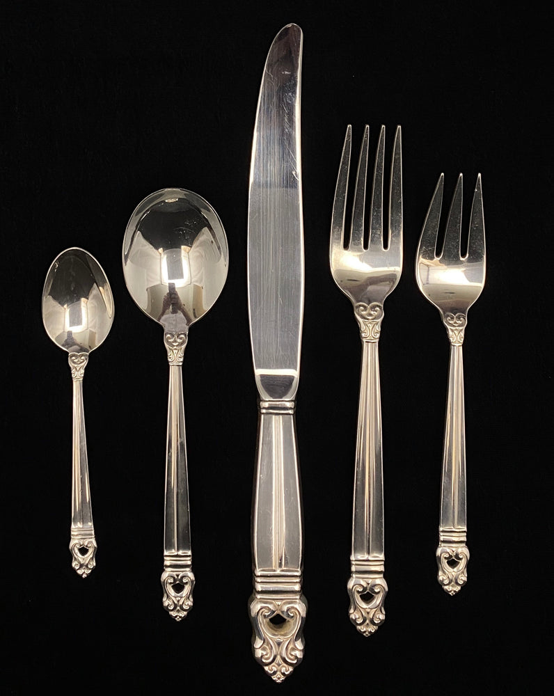 International Silver Royal Danish Flatware - 8 Place Settings+