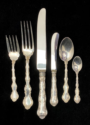 Load image into Gallery viewer, BIRKS Sterling Silver Pompadour Flatware - 12 Place Settings +