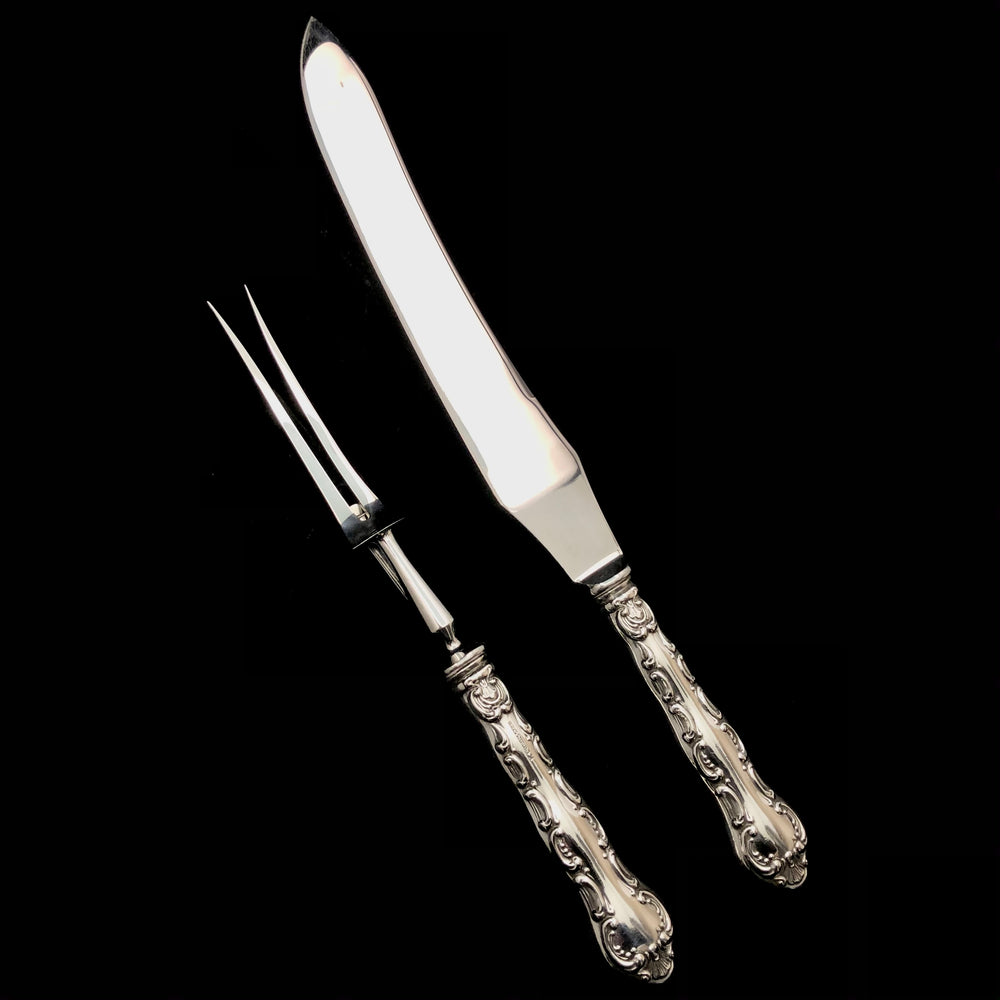 BIRKS Louis XV Sterling Handled Carving Set