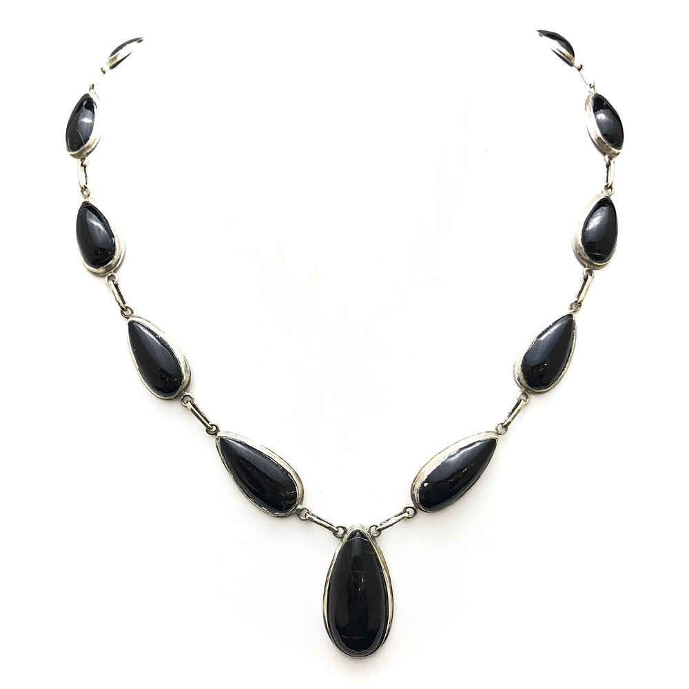 Sterling Black Coral Necklace