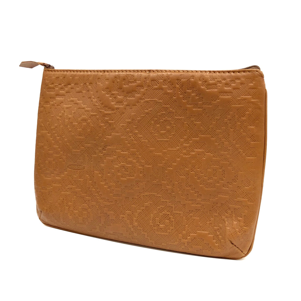 MISSONI Embossed Beige Leather Pouch