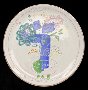 Load image into Gallery viewer, MANLIO BALOSI Majolica Decorative Wall Plate