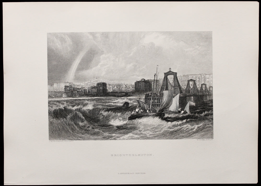JMW Turner - Brighthelmston - Etching