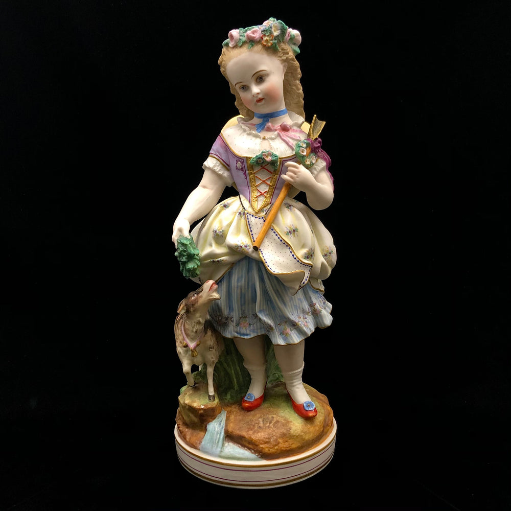 LETU & MAUGER Bisque Figure of a Girl
