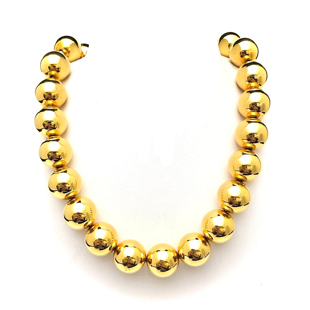 ANNE KLEIN Gold Colour Large Ball Bead Necklace