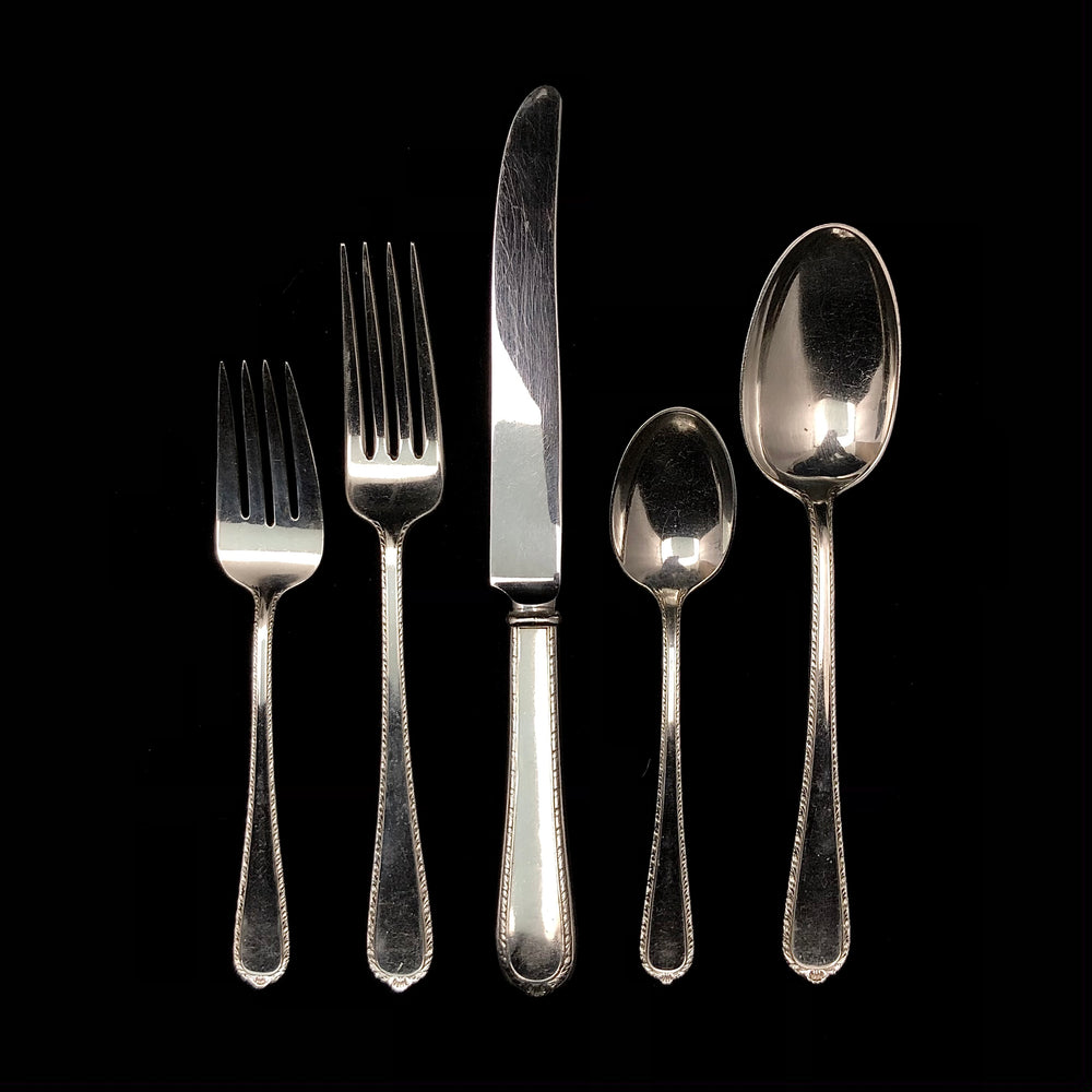 International Silver Pine Tree Flatware - 7 Place Settings +