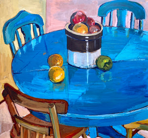 Mary Perry - Still Life Of a Kitchen Table - Acrylic on Canvas