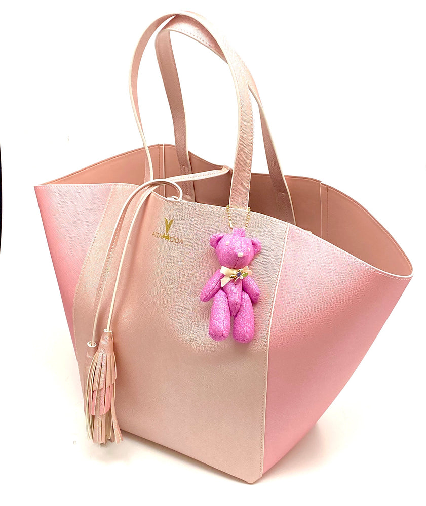 ALTAMODA Pink Leather Tote