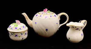 Load image into Gallery viewer, HEREND Blue Garland Tea Service