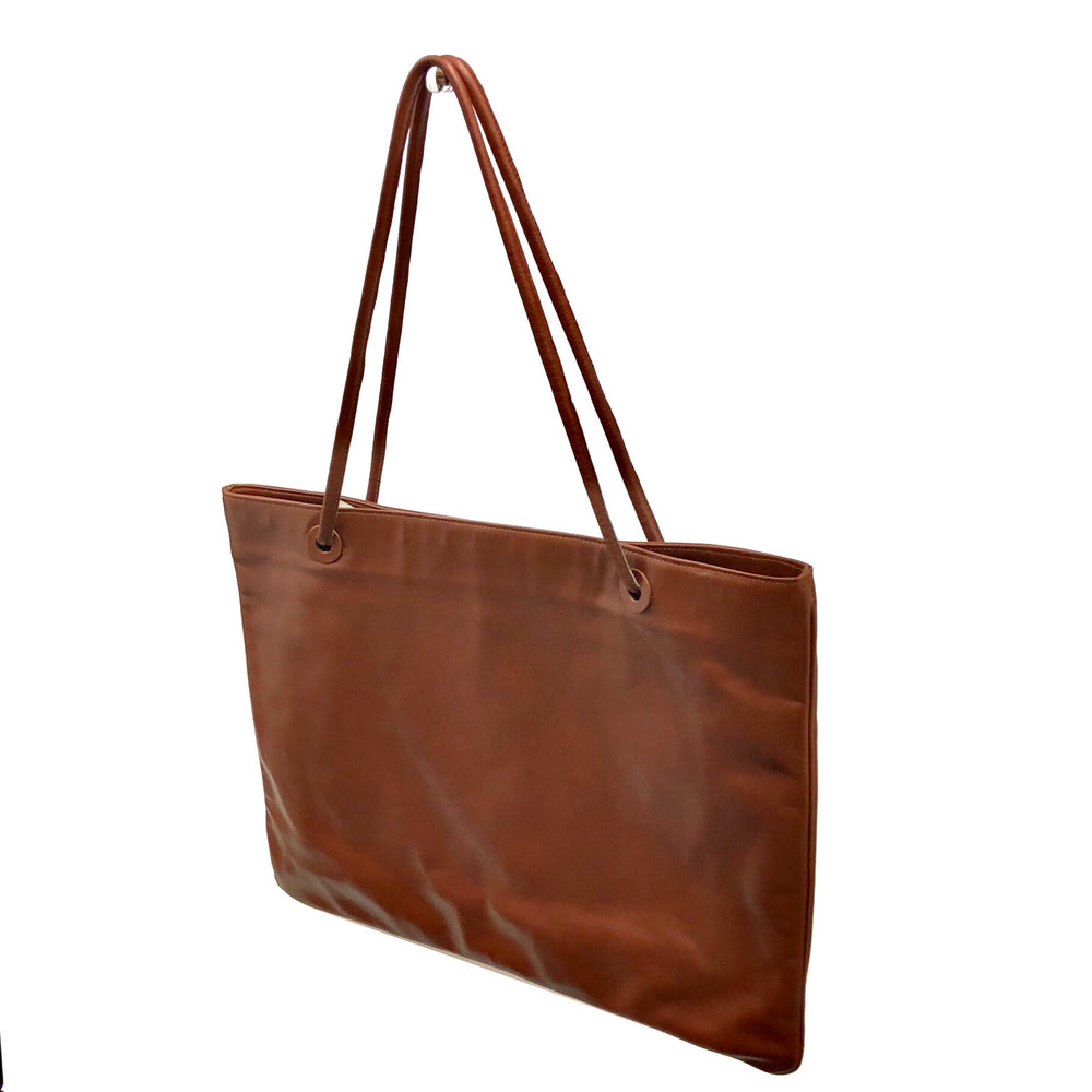 FRANCES PATIKY STEIN Flat Tote - Cognac Leather