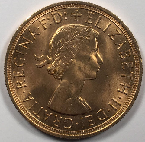 GOLD SOVEREIGN ELIZABETH II 1957 UNC