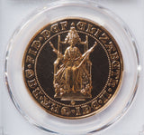 1989 TUDOR ROSE GOLD £5 FIVE POUND QUINTUPLE SOVEREIGN PCGS MS69