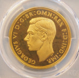 PCGS PR64DCAM 1937 GEORGE VI PROOF GOLD FIVE POUND