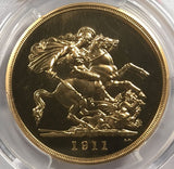 PCGS PR63 1911 GEORGE V PROOF GOLD FIVE POUND