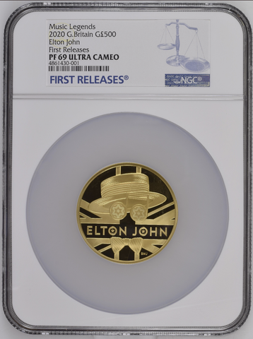 2020 Elton John Gold 5oz Proof 500 Pound NGC PF69UC FIRST RELEASES