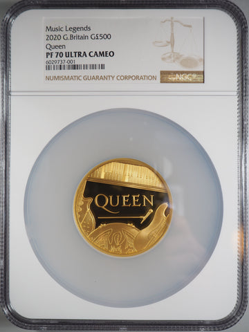 2020 Queen Gold 5oz Proof 500 Pound NGC PF70UC