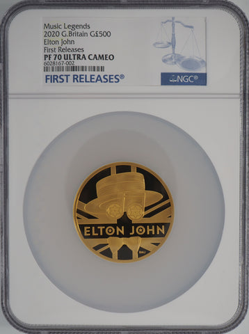 2020 Elton John Gold 5oz Proof 500 Pound NGC PF70UC FIRST RELEASES