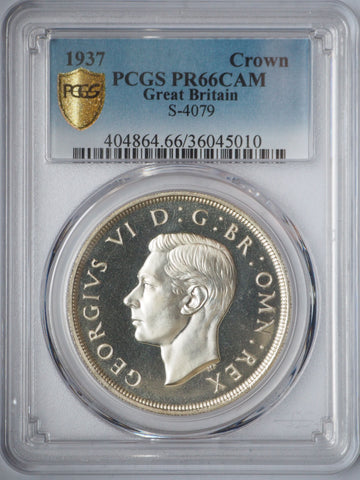 PCGS PR66CAM 1937 SILVER PROOF CROWN COIN