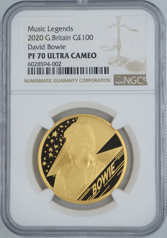 2020 David Bowie Gold 1oz Proof 100 Pound NGC PF70UC