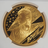 2020 David Bowie Gold 2oz Proof 200 Pound NGC PF70UC First Releases