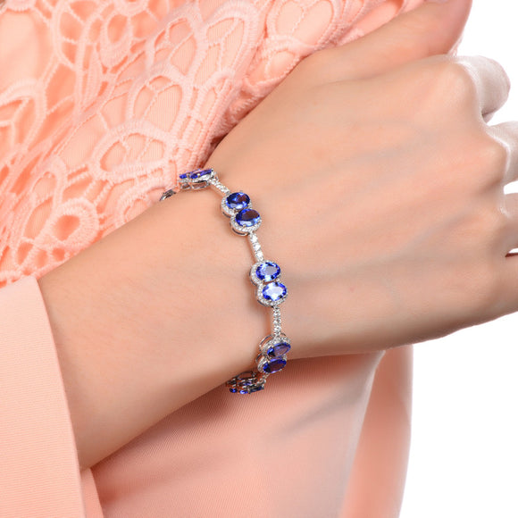 Tanzanite Pave Diamond Bracelet