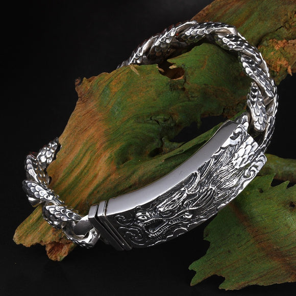 925 Sterling Silver Dragon Bracelet
