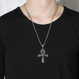 Scarab Ankn Cross Necklace