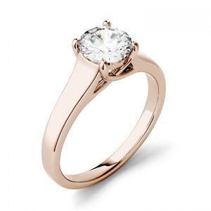 14k Gold Moissanite Ring