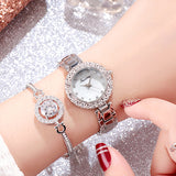 Women's Quartz Watch Bracelet Set