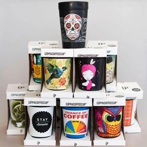 Cupppa coffee reusable cups - New Zealand made, New Zealand artists - 31 Designs