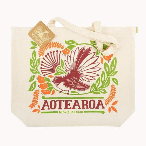 Fantail Shopping tote - Organic Cotton