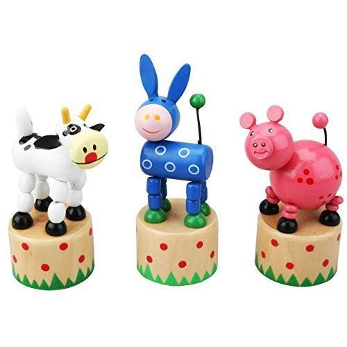 Farm animal - Push puppets - Wooden toy