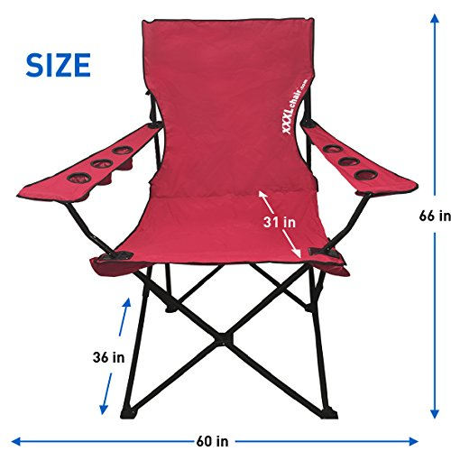 ... EasyGoProducts Giant Oversized Big Portable Folding C&ing Beach Outdoor Chair with 6 Cup Holders Fold Compact ...  sc 1 st  Wholesome Joe & EasyGoProducts Giant Oversized Big Portable Folding Camping Beach ...