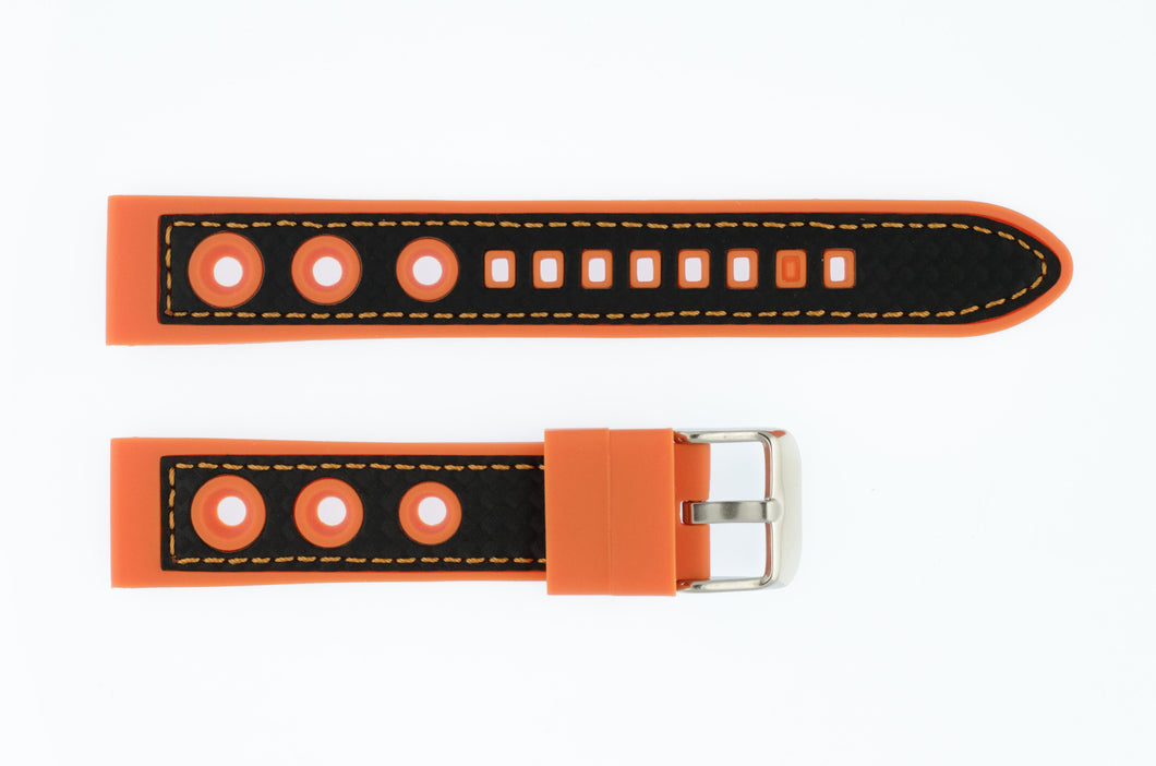 Klockarmband Racing: Silikon Orange - Natoband.nu