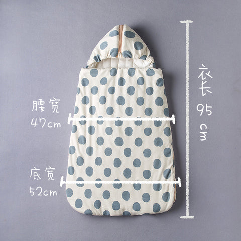 Organic Polka Dot Sleeping Bag for Boys and Girls