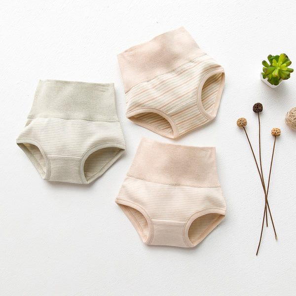 High Waist Organic Baby Underwear - 3 PCS/SET