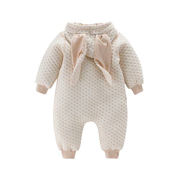 Best Baby SnowSuit with Adorable Bunny Ears - 100% Organic