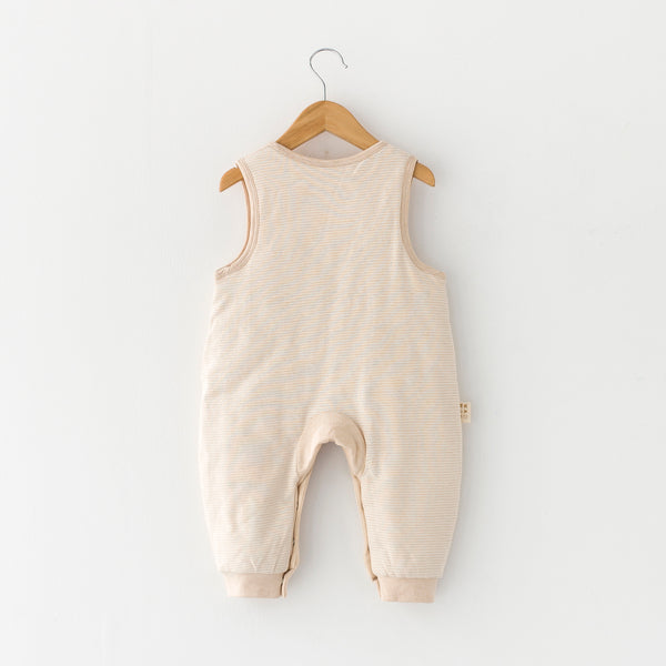 Embroidered Elephant Romper Suit Solid