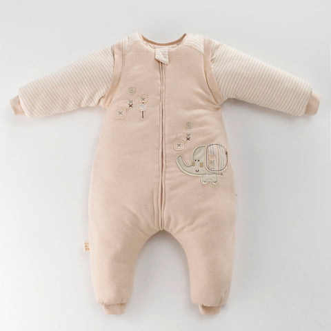 Animal Embroidered SnowSuit Organic